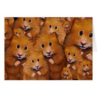 Crowd of Cute Hamsters: Original Art Card