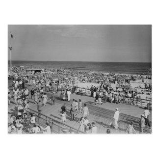 Crowd on Beach Postcard