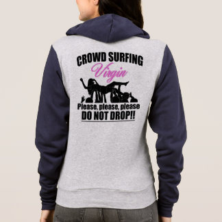 Crowd Surfing Virgin (blk) Hoodie