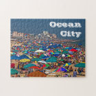 Crowded Beach in Ocean City Jigsaw Puzzle