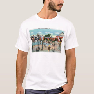 Crowds at Saratoga Spa Swimming Pool T-Shirt