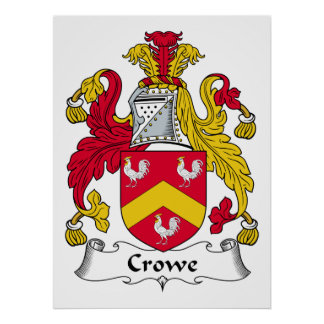 Crowe Family Crest Posters