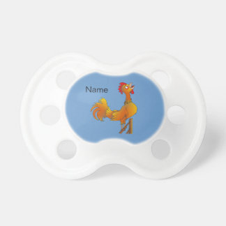 Crowing cartoon bantam rooster baby pacifiers
