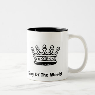 crown%20good, King Of The World Two-Tone Coffee Mug