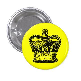 Crown 3 Cm Round Badge