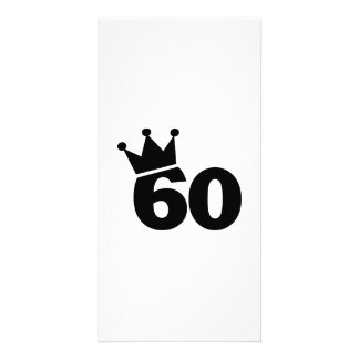 Crown 60th birthday picture card