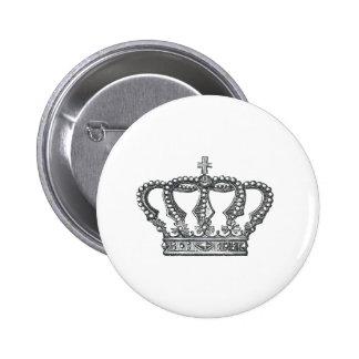 Crown 6 Cm Round Badge