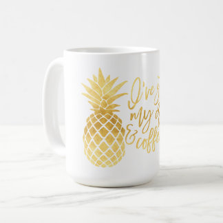 Crown and Coffee Gold Pineapple Mug
