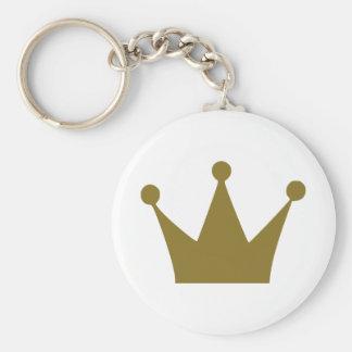 Crown Basic Round Button Key Ring
