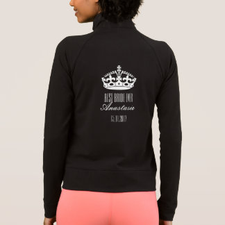 Crown Best Bride Ever Name Date Long Sleeve Jacket