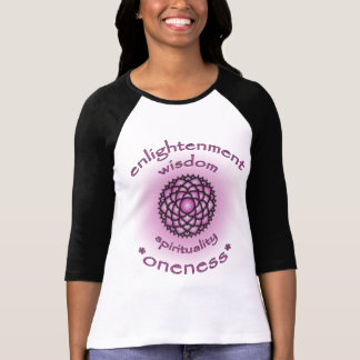 Crown Chakra Enlightenment Ladies Raglan T-shirt