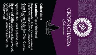 Crown Chakra Chart Card Appointment Cards | Zazzle com au