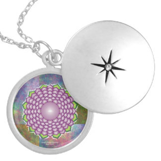 Crown Chakra Mandala Locket Necklace