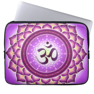 Crown Chakra Pattern Design Laptop Sleeve