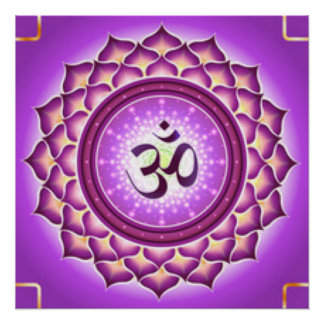 Crown Chakra Pattern Design Poster