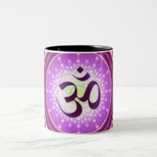Crown Chakra Pattern Design Two-Tone Coffee Mug