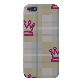 Crown Chequered Print iPhone Case 4 Case For iPhone 5/5S