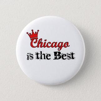 Crown Chicago 6 Cm Round Badge