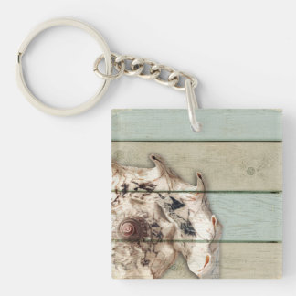 Crown Conch Key Ring