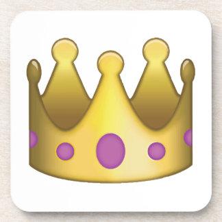 Crown emoji beverage coaster