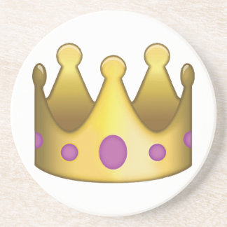 Crown emoji coaster