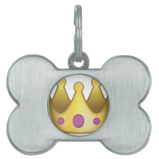 Crown emoji pet tag