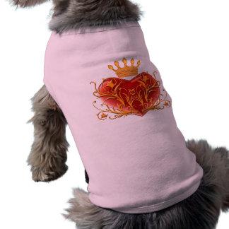 Crown Filigree Heart Dog Shirt