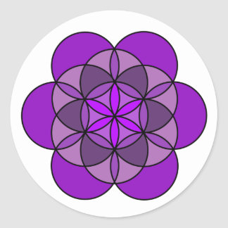 Crown Flower of Life Classic Round Sticker