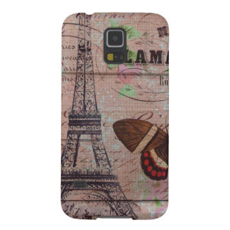 crown french bee butterfly Paris Eiffel Tower Galaxy S5 Cover