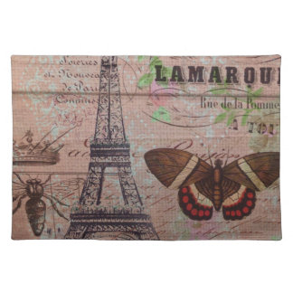 crown french bee butterfly Paris Eiffel Tower Place Mats