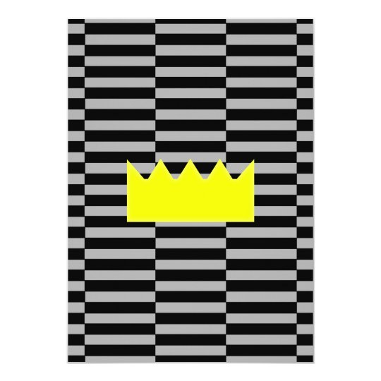 Crown - grey and black strips. card