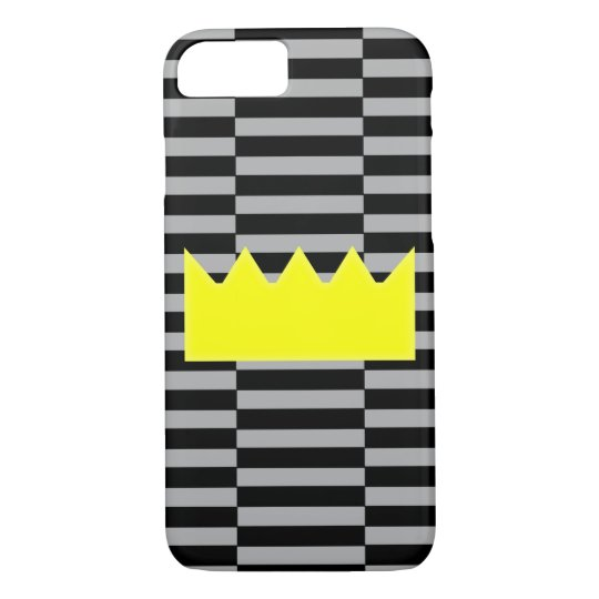Crown - grey and black strips. iPhone 8/7 case