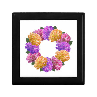Crown Hydrangea Nice Image Small Square Gift Box
