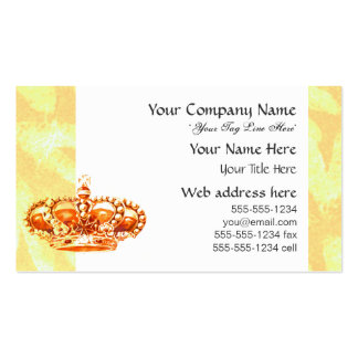 Crown in Gold Pack Of Standard Business Cards