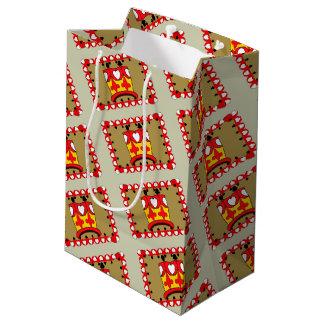 CROWN KIDS CARTOON Gift Bag -  MEDIUM MATT