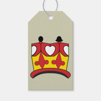 CROWN KIDS CARTOON GIFT TAG Matte RED