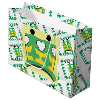 CROWN KIDS GREEN CARTOON GIFT BAG LARGE