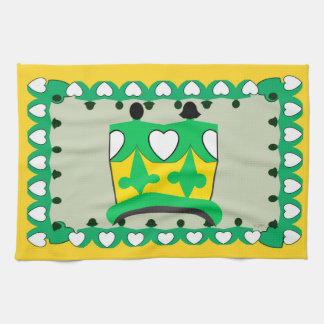 CROWN KIDS GREEN CARTOON Linen with crockery Tea Towel