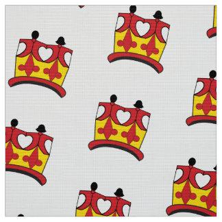 CROWN KIDS  Polyester YARD BROWN Fabric