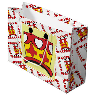CROWN KIDS RED CARTOON GIFT BAG LARGE