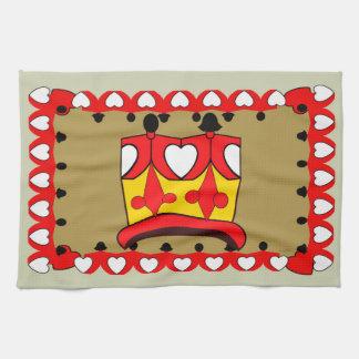 CROWN KIDS RED CARTOON Linen with crockery Tea Towel