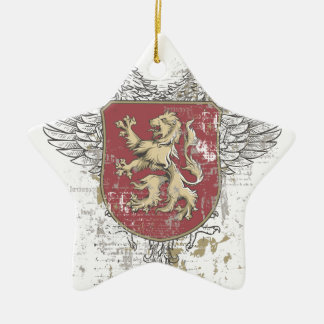 crown lion and the mark ceramic ornament