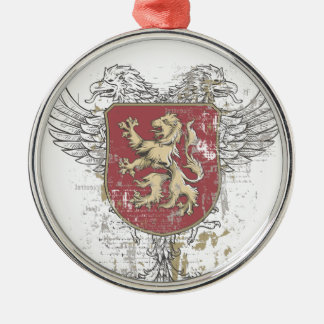 crown lion and the mark metal ornament