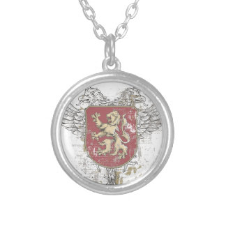 crown lion and the mark silver plated necklace