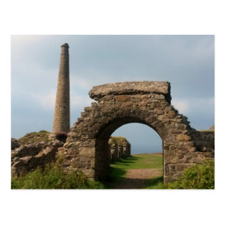 Crown Mines, Botallack, Cornwall, England. Postcard