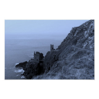 Crown Mines Botallack Cornwall England Poster