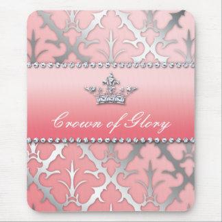 Crown of Glory Damask Diamond Gifts Mousepads