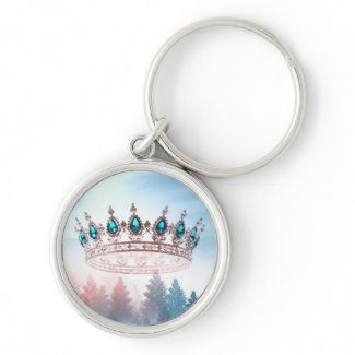 Crown Of Snow | Round Key Ring