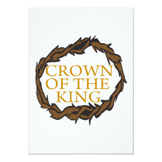 Crown Of The King 13 Cm X 18 Cm Invitation Card