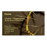 Crown of Thorns Card II Business Card Template